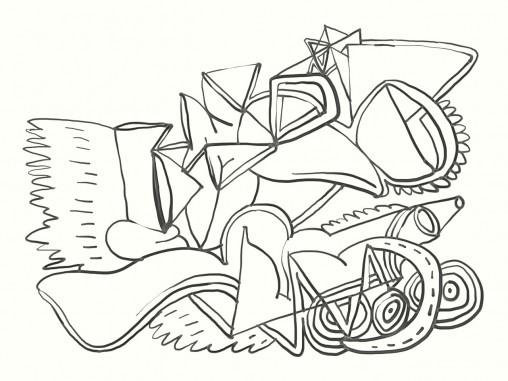 Abstract colouring sheet