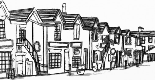 Ashton Lane colouring sheet