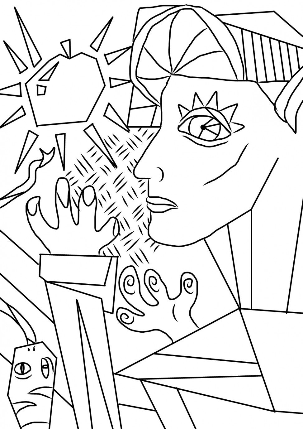 Eve colouring sheet