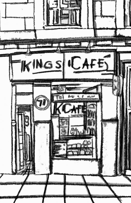 Kings Cafe colouring sheet