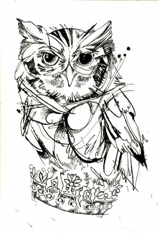 Owl colouring sheet