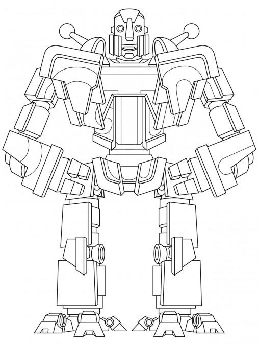 Robot colouring sheet