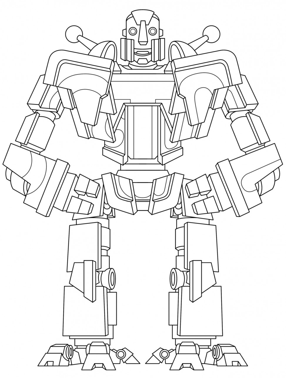 Robot colouring sheet