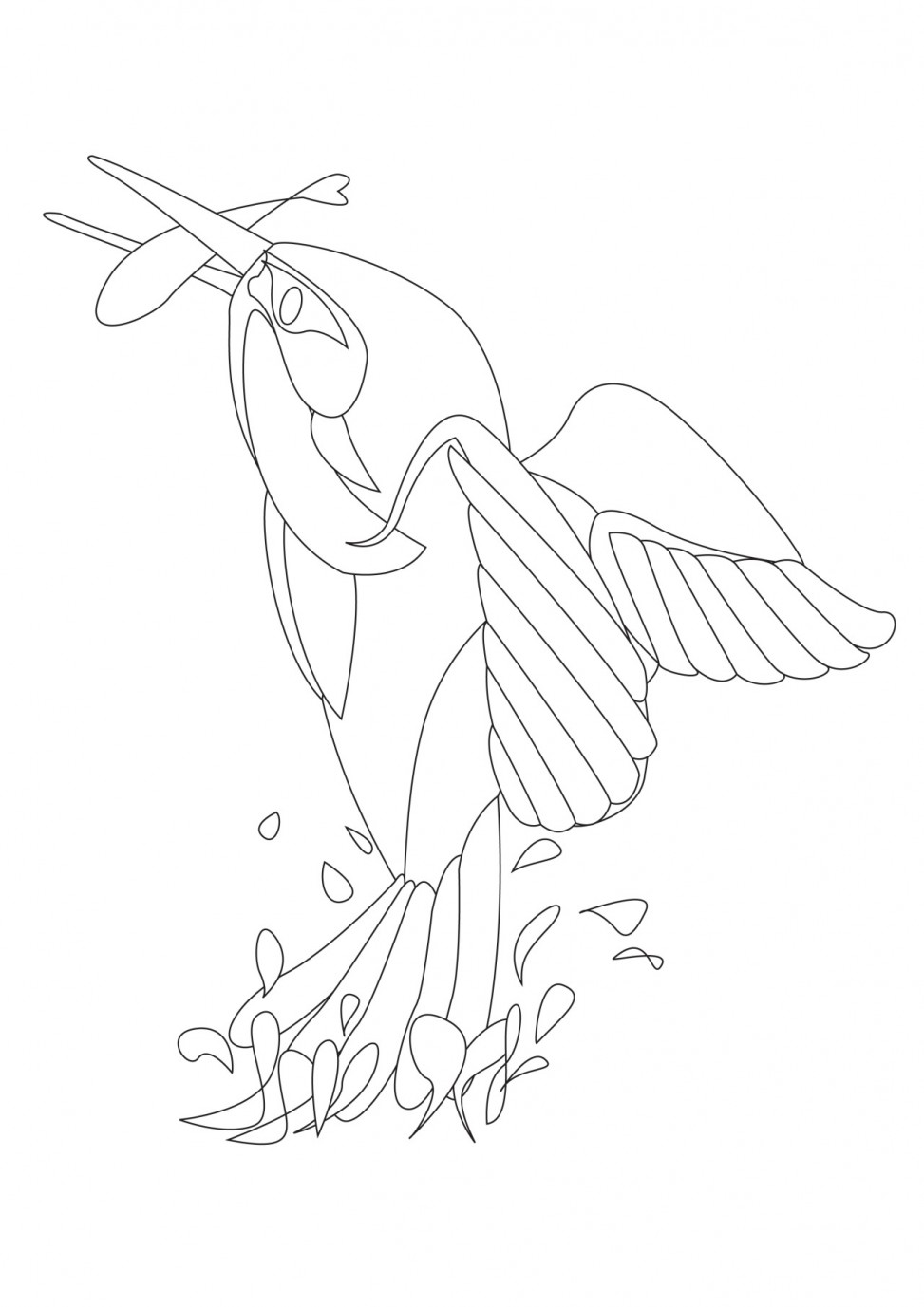 KINGFISHER colouring sheet